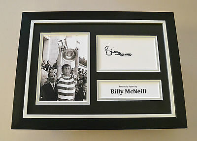 Billy McNeill Signed A4 Photo Framed Display Autograph Celtic Memorabilia + COA
