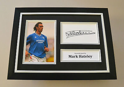 Mark Hateley Signed A4 Photo Framed Display Autograph Rangers Memorabilia + COA