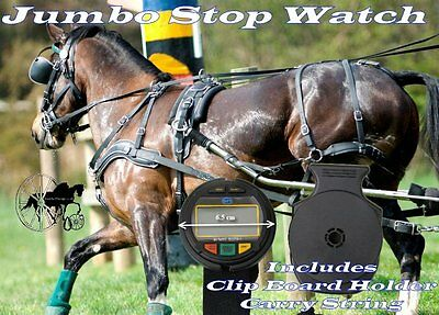 Carriage Driving HDT Marathon Competitor Jumbo Stop Watch Lap Time