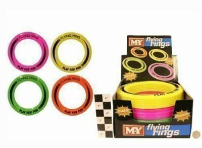 2 x COLOURED FLYING SOFT RING FRISBEE DOG PUPPY FLYER FETCH TOY ACTIVITY PLAY