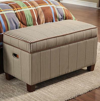 Upholstered Storage Bench in Striped Fabric by Coaster 405016