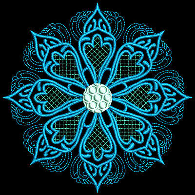 Blooming Medallions- 36 Machine Embroidery Designs (Azeb)