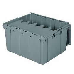 "24""L x 19-1/2""W x 12-1/2""H OD Akro-Mils (R) Attached Lid Container"