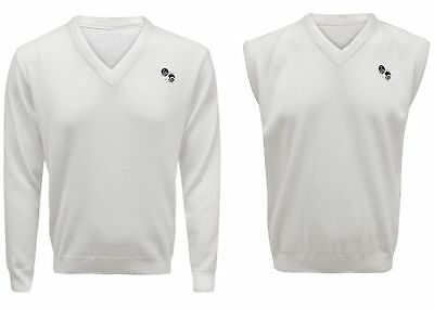 Mens Womens Bowls Logo Bowling White Sweater Top Sweatshirt Jumper Shirt 1/2 New