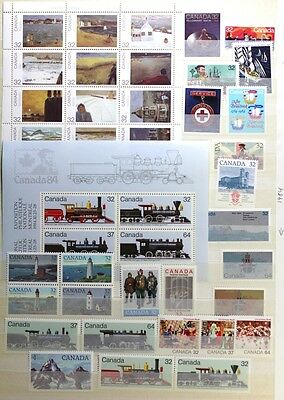 CANADA Postage Stamps, 1984 Complete Year set collection, Mint NH, See scans