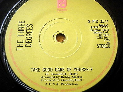 """The Three Degrees - Take Good Care Of Yourself   7"""" Vinyl"""