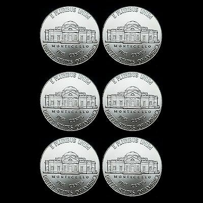 2013 2014 2015 P+D Jefferson Nickel Set Uncirculated US Mint Coin from Bank Roll