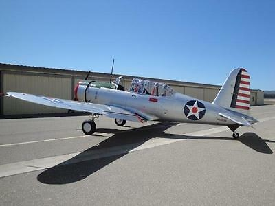 1942 VULTEE BT-13A VALIANT - LIKE NEW - 45 HOURS SINCE TOTAL RESTORATION