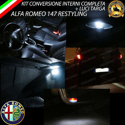 Kit Led Interni Alfa Romeo 147 Restyling Conversione Completa + Led Targa Canbus