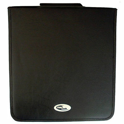 1 X Neo Media 500 Capacity CD DVD Ring Binder Wallet Leather Storage Carry Case