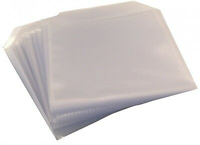 25 CD DVD DISC CLEAR COVER CASES PLASTIC 100 MICRON SLEEVE WALLET - 25 pack