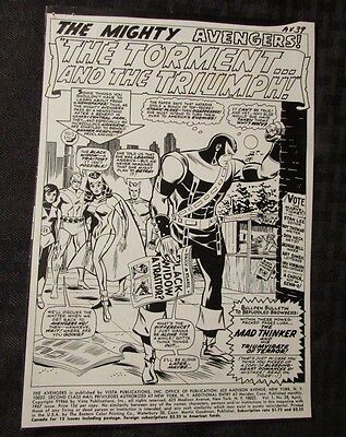 Other Original Comic Art 1953 Swan & Boring Superman In 3d Back Cover Stat Jack Adler Collection W/ Coa