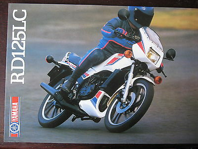 Catalogue Prospectus  1984  Yamaha Rd 125 Lc