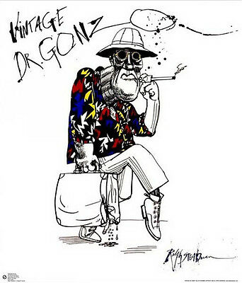 RALPH STEADMAN POSTER (61x68cm) VINTAGE DR. GONZO FEAR LOATHING PICTURE PRINT