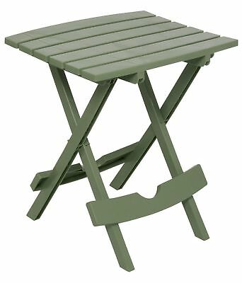 Adams Manufacturing 8500-01-3700 Plastic Quik-Fold Side Table Sage