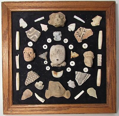 Pre-Columbian Framed Artifacts