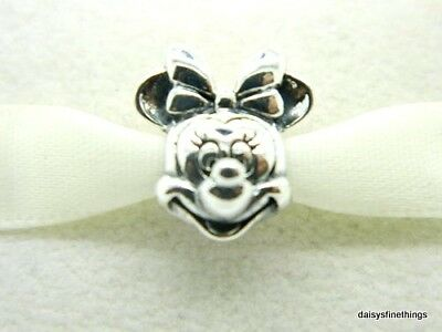 Nwt Authentic Pandora Silver Charm Disney Minnie Portrait #791587