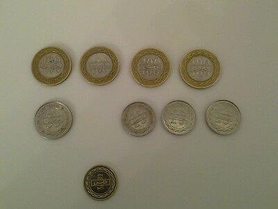 LOT OF 9 COINS FROM BAHRAIN- FREE US SHIPPING