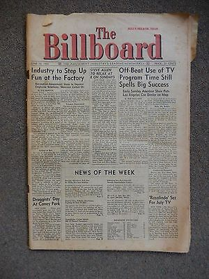"Original ""The Billboard"" Amusement Industry Newsweekly from June 16th, 1956"