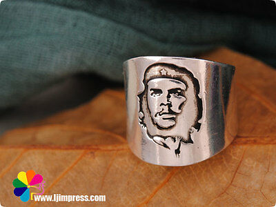 Tibetan silver CHE GUEVARA Revolutionary FREEDOM HONOR  finger ring