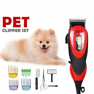 Pro Electric Dog Pet Clipper Kit Blade Comb Set Cat Animal Hair Grooming Trimmer