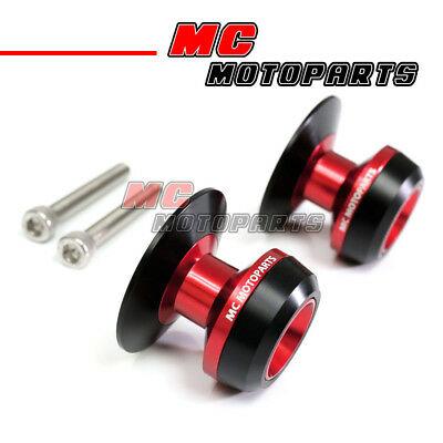 Red Twall Racing M6 Swingarm Spools Sliders For Yamaha YZF R6 99-10 11 12 13