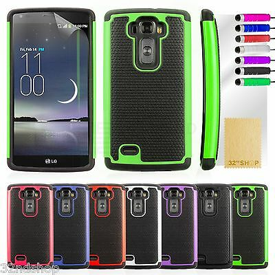 Dual Layer Shockproof Case Cover For LG G Flex 2 + Screen Protector & Stylus