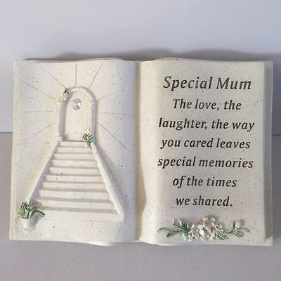 New SPECIAL MUM Memorial Stone Garden Grave Book Ornament STAIRWAY TO HEAVEN