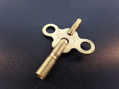 Clock Key Brass Double End  Size 8/1 size 4 mm. x 2.6 mm