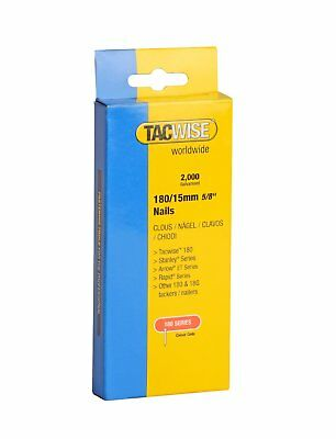 "Tacwise 180 Series Nails 15mm (5/8"") Galvanised Box Of 2000 Brads Nail 0359"