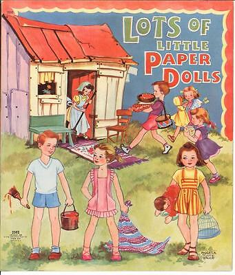 Vintage Uncut 1940 Lots Little Paper Dolls ~Cute Hd Laser Reproduction~ Lo Pr