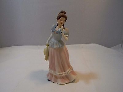Homco Home Interiors-Victorian Lady Woman Smelling Flowers Figurine #1452
