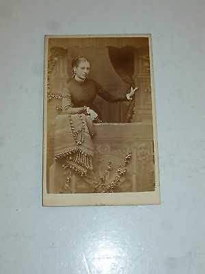VICTORIAN SEPIA PHOTO - Young Women - (Mounted on board)