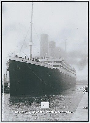 """RMS White Star Line TITANIC """"WOOD"""" & """"COAL"""" removed from 1912 wreckage"""