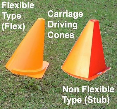 Carriage Driving Cones Flexible Non Flexible  Horse Driving Trials HDT CDE