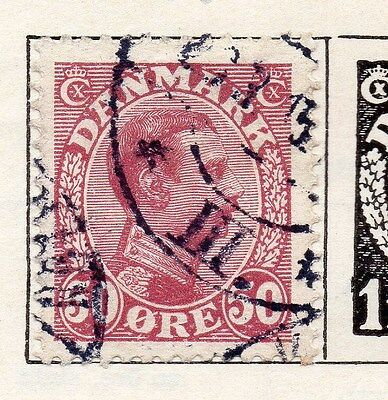 Denmark 1913 Early Issue Fine Used 50ore. 138143