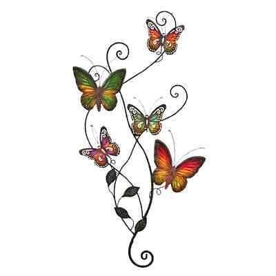 Rustic Country Butterfly Wall Art Metal Indoor Outdoor Decor Cream