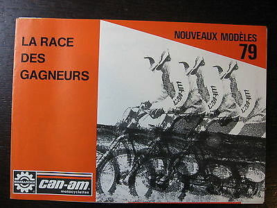 Brochure Catalogue  Moto 1979 Bombardier Can-Am 250 370 Qualifier Et Mx-5