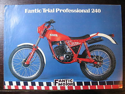 Brochure Catalogue 1981 Moto Fantic   Trial 240 Professional