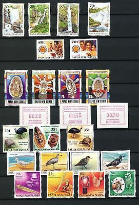 PAPUA NEW GUINEA 1990 Frama Birds Masks MNH (24 Stamps)(Pap2)