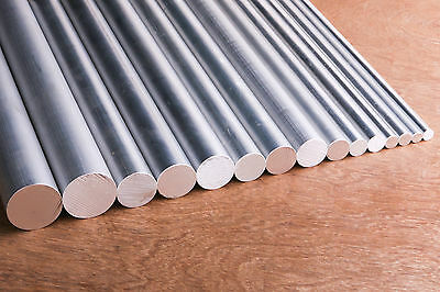 ALUMINIUM Solid Round Bar 10,12,16,20 or 25 X 300mm LONG 6060-T5 FREE POSTAGE