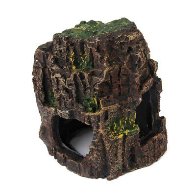 Sea Rock Cave Stone Resin Craft Aquarium Ornament Fish Tank HIDE Decoration