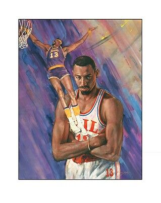 Clock Is Ticking SALE! WILT CHAMBERLAIN Lithograph