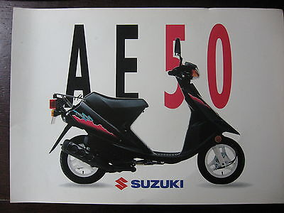 Brochure Catalogue 1990  Moto Suzuki  Ae 50 Scooter  Prospectus
