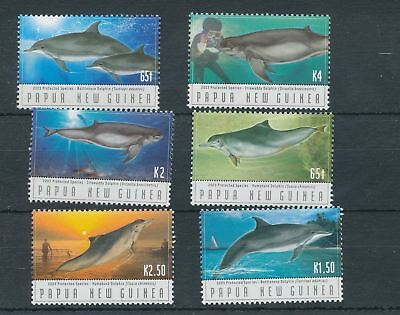 PAPUA NEW GUINEA 2003 DOLPHINS Wildlife MNH Set of 6 Stamps(Pap10)
