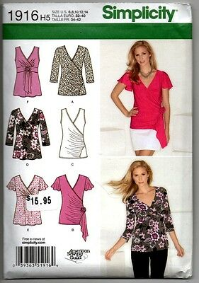 Simplicity 1916 Sewing Pattern Stretch Knit Tops Shirts Blouses Wrap