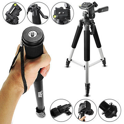 "57"" Extendable Aluminum Tripod + Monopod Mount / Stand for Digital SLR CAMERAS"