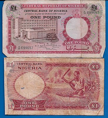 Nigeria P-8 One Pound ND 1967 Circulated Banknote Africa