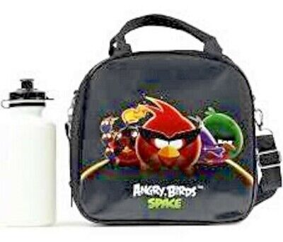 BLACK Angry Birds&Friends Insulated Lunch Box Bag with Water Bottle by Rovio-New