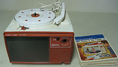 Vintage 1960's General Electric Show N Tell Record Player Picture Sound Slide